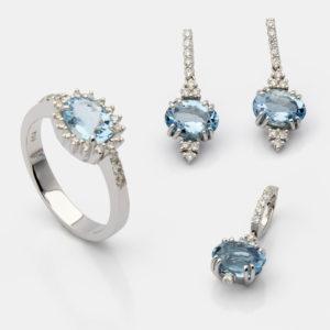Água marinha e diamantes